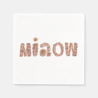 Guardanapo de papel do cocktail com 'miaow