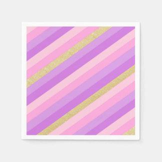 Guardanapo de papel do cocktail do arco-íris