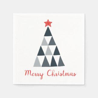 Guardanapo de papel do cocktail do Feliz Natal