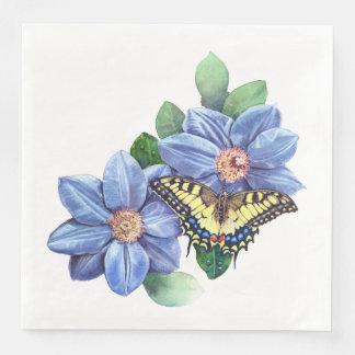 Guardanapo de papel do comensal da borboleta da