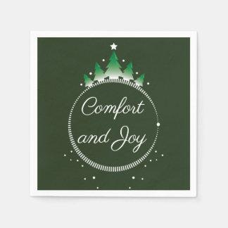 Guardanapo de papel do conforto e da alegria | do