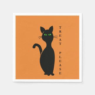 Guardanapo De Papel Do deleite gato por favor