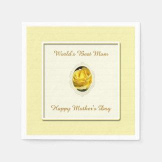 Guardanapo de papel do dia das mães do rosa
