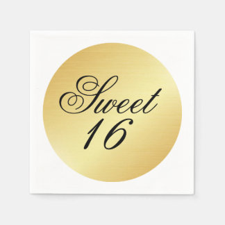 Guardanapo de papel do doce 16 elegantes e chiques