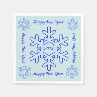 Guardanapo de papel do feliz ano novo 2018