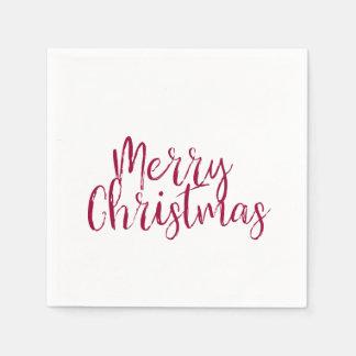 Guardanapo de papel do Feliz Natal