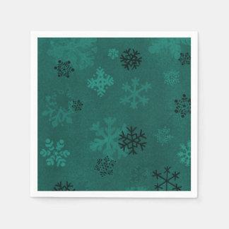 Guardanapo de papel do floco de neve verde