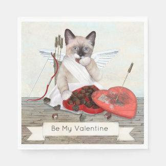 Guardanapo de papel do gatinho do Cupido
