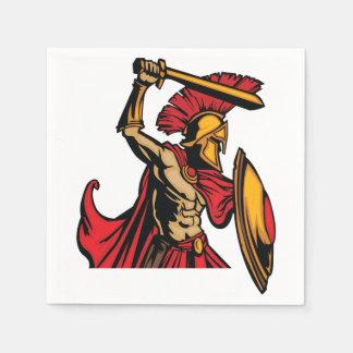 Guardanapo de papel do guerreiro espartano