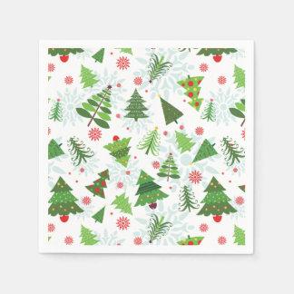 Guardanapo de papel do impressão da árvore de