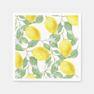 Guardanapo de papel do limão