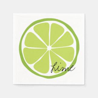 Guardanapo de papel do limão do citrino do verão