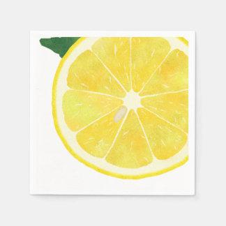 Guardanapo de papel do limão fresco