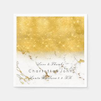 Guardanapo De Papel Do mármore Sparkly do brilho do ouro feminino
