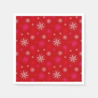 Guardanapo de papel do Natal do design do floco de