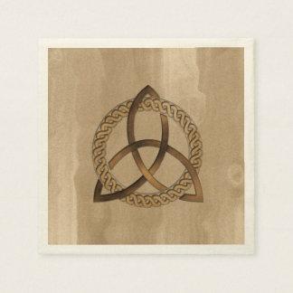 Guardanapo de papel do nó da trindade de Triquetra