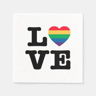 Guardanapo de papel do orgulho do coração do amor