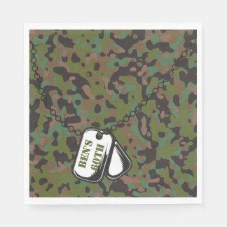 Guardanapo de papel do partido da camuflagem do GI