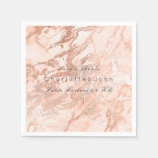 Guardanapo De Papel Do pêssego coral cor-de-rosa do ouro do cobre