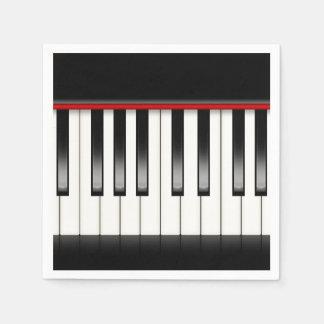 Guardanapo de papel do piano bonito do partido do
