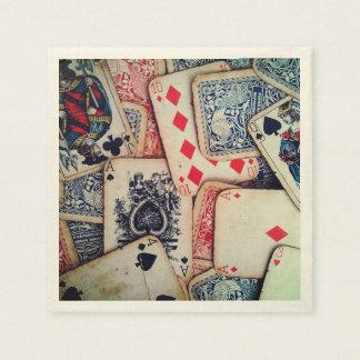 """Guardanapo de papel do """"póquer"""""""