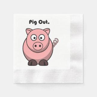 Guardanapo De Papel Do porco desenhos animados cor-de-rosa leitães