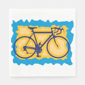 Guardanapo de papel do selo da bicicleta
