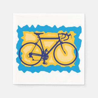 Guardanapo de papel do símbolo da bicicleta