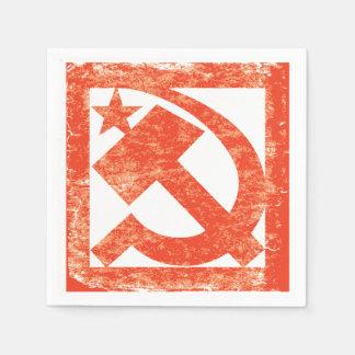 Guardanapo de papel do símbolo soviético