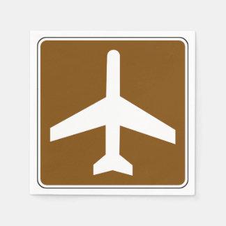 Guardanapo de papel do sinal do aeroporto