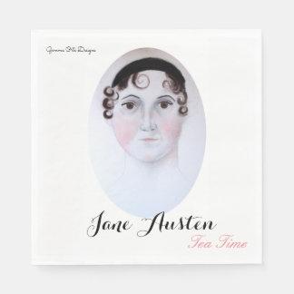 Guardanapo de papel do tempo do chá de Jane Austen