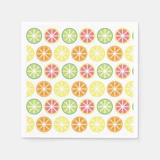 Guardanapo de papel do teste padrão do citrino