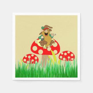 Guardanapo de papel dos cogumelos