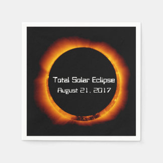 Guardanapo De Papel Eclipse 2017 solar total