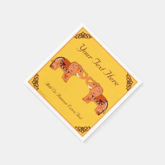 Guardanapo De Papel Elefante do Henna (alaranjado/vermelho)