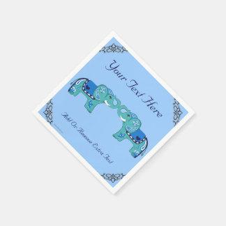 Guardanapo De Papel Elefante do Henna (azul/luz - azul)