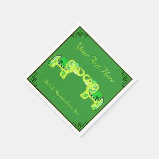 Guardanapo De Papel Elefante do Henna (verde/verde limão)