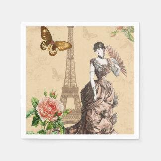 Guardanapo de papel elegantes da forma francesa do