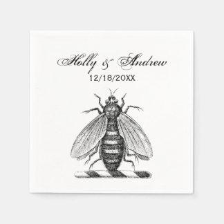 Guardanapo De Papel Emblema heráldico formal da brasão da abelha do