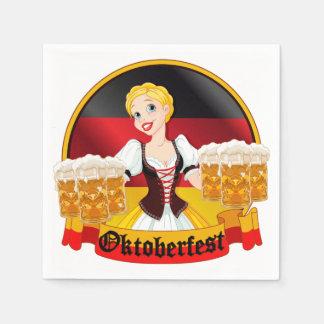 Guardanapo De Papel Empregada doméstica alemão do bar de Oktoberfest