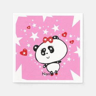Guardanapo De Papel Engraçado bonito dos ursos de panda personalizado