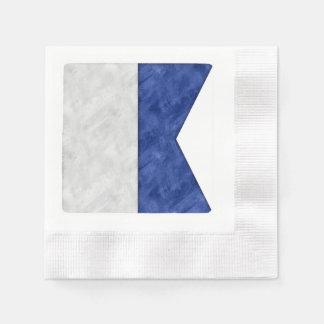 Guardanapo De Papel Escolha de 26 bandeiras marítimas náuticas da