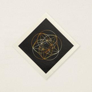 Guardanapo De Papel Espiral de Fibonacci a geometria sagrado