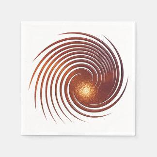 Guardanapo De Papel Espiral dourada abstrata
