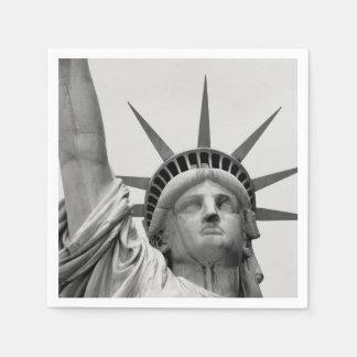 Guardanapo De Papel Estátua da liberdade preto e branco