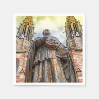 Guardanapo De Papel Estátua de Charles-Emile Freppel, Obernai, France