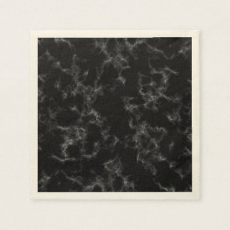 Guardanapo De Papel Estilo de mármore elegante - preto