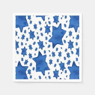 Guardanapo De Papel Estrela de David azul da aguarela