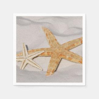 Guardanapo De Papel Estrela do mar dois na areia
