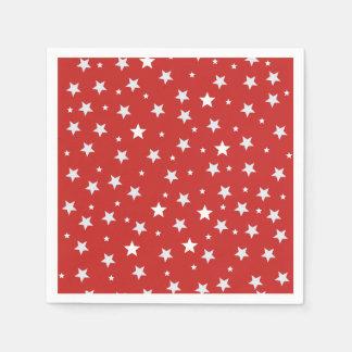 Guardanapo De Papel Estrelas brancas no vermelho
